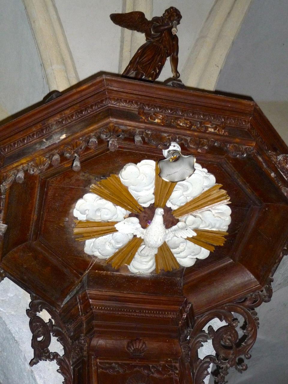 Détail De La Chaire Sculptée Par Augustin Fauconnet