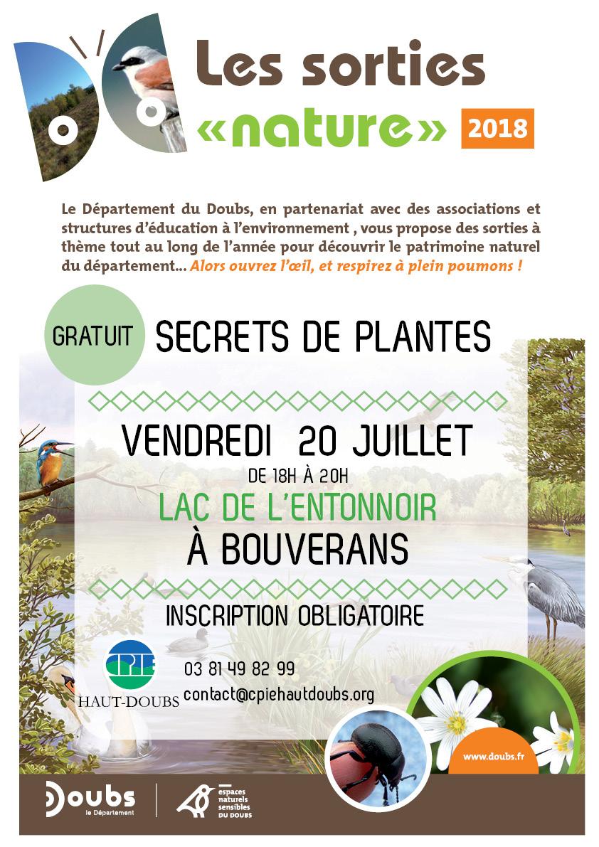 Découvrez Les Secrets Des Plantes, Au Lac De Bouverans