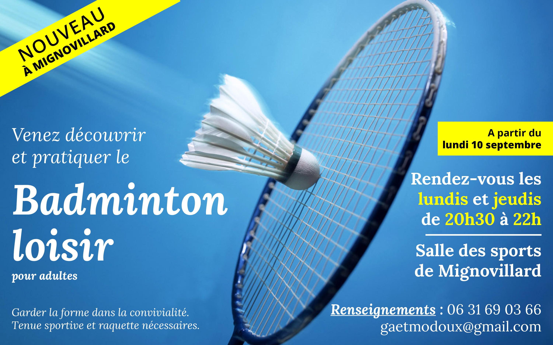 Découvrez Le Badminton Loisir