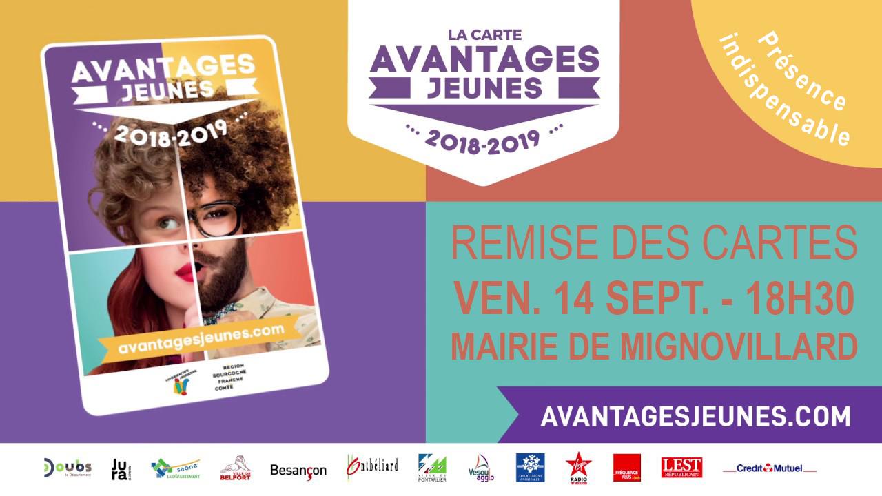 Carte Avantages Jeunes 2018 2019