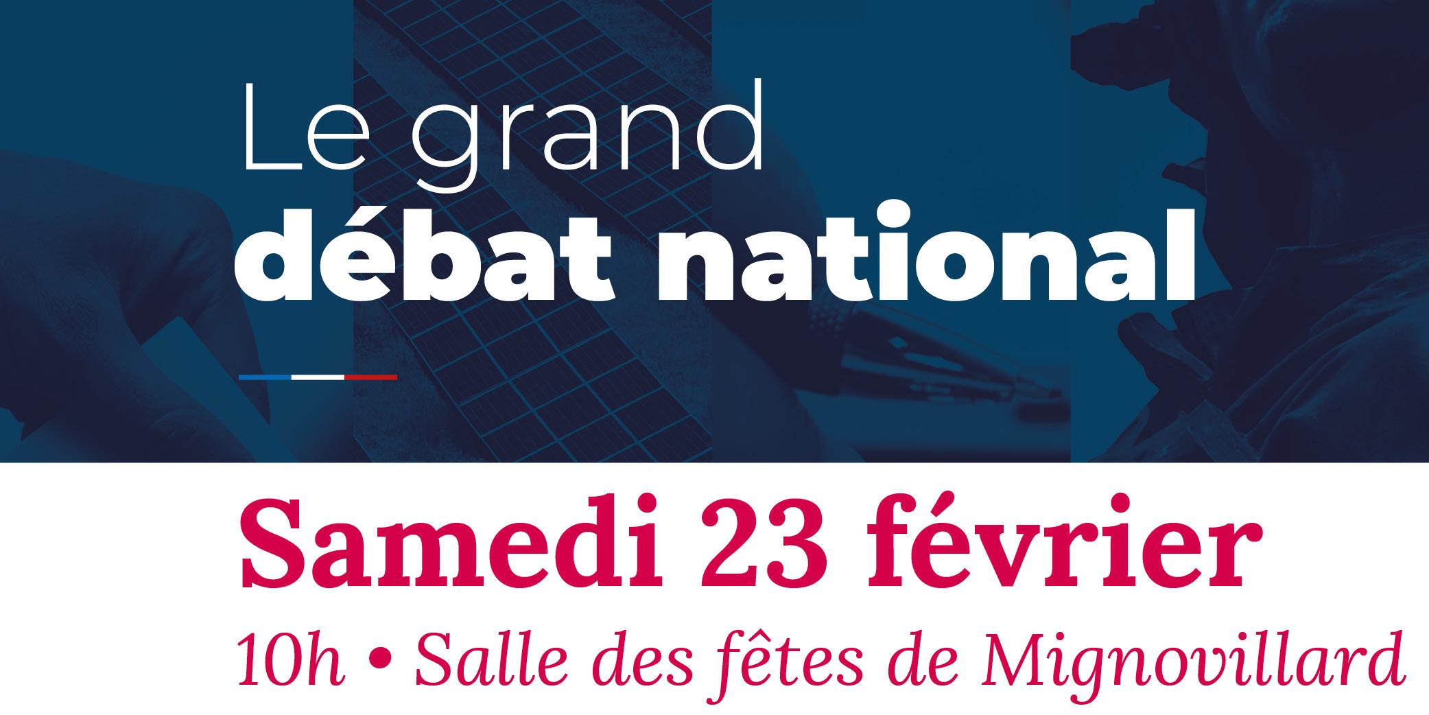 Le Grand Débat National à Mignovillard : Compte Rendu