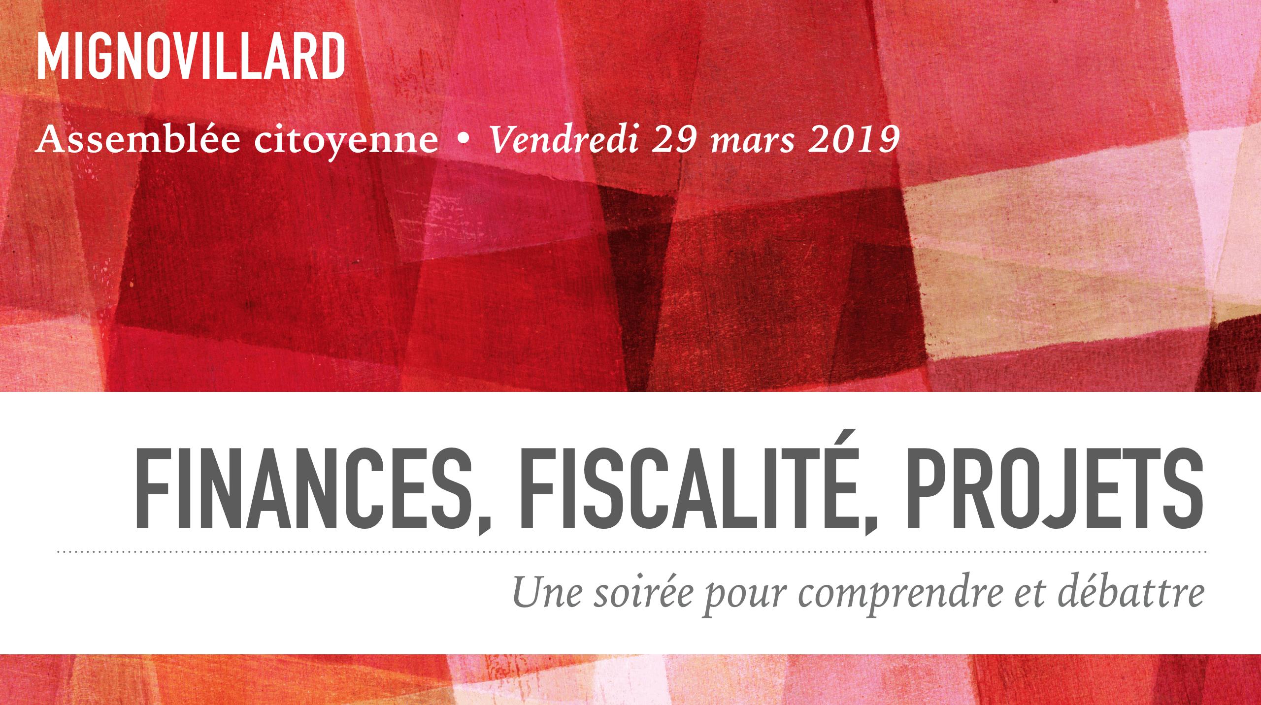 Assemblée Citoyenne Du 29 Mars : Finances, Fiscalité, Projets