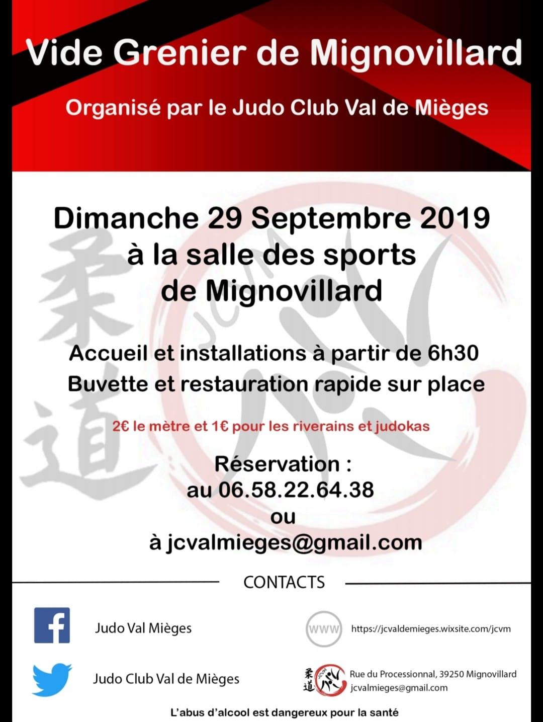Chinez Avec Le Vide Grenier Du Judo Club Le 29 Septembre
