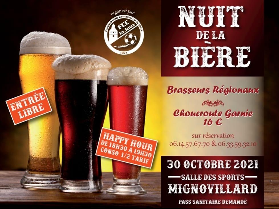 La Nuit De La Bière, édition 2021, Le Samedi 30 Octobre